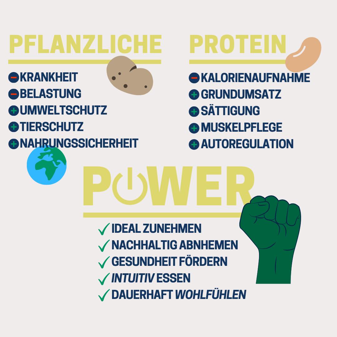 Pflanzlichen Protein Power Methode